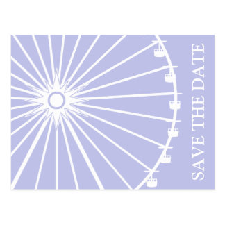 Ferris Wheel Save The Date Postcards Violet