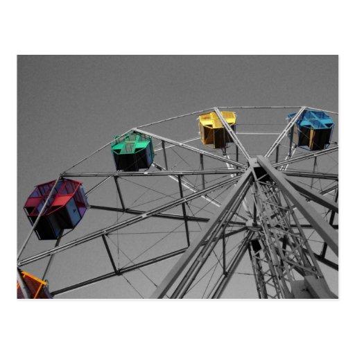Ferris Wheel(selective color) postcard