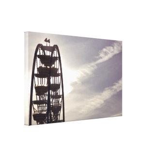 Ferris Wheel Silhouette Canvas