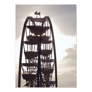 Ferris Wheel Silhouette Card