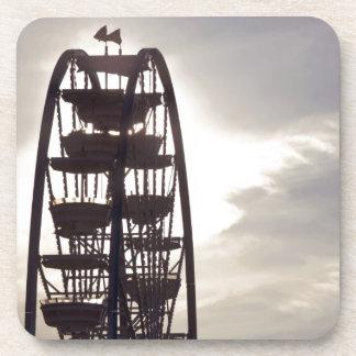 Ferris Wheel Silhouette Drink Coasters