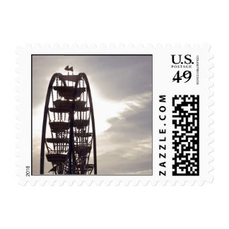 Ferris Wheel Silhouette Postage