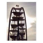 Ferris Wheel Silhouette Postcard