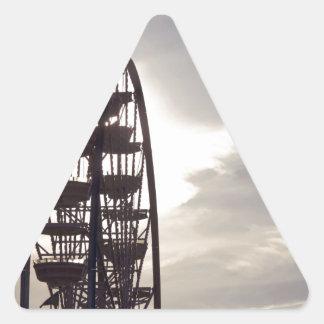 Ferris Wheel Silhouette Triangle Sticker