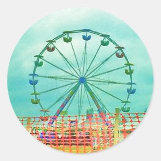 Ferris Wheel Spring Fest Misquamicut Beach Classic Round Sticker