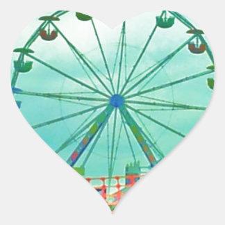Ferris Wheel Spring Fest Misquamicut Beach Heart Sticker