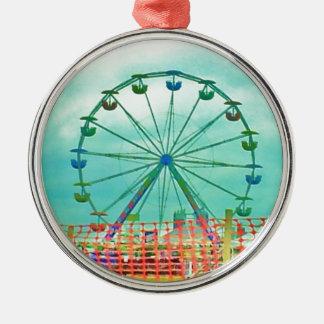 Ferris Wheel Spring Fest Misquamicut Beach Metal Ornament