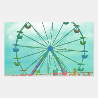 Ferris Wheel Spring Fest Misquamicut Beach Rectangular Sticker