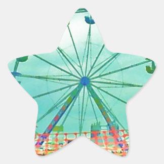 Ferris Wheel Spring Fest Misquamicut Beach Star Sticker