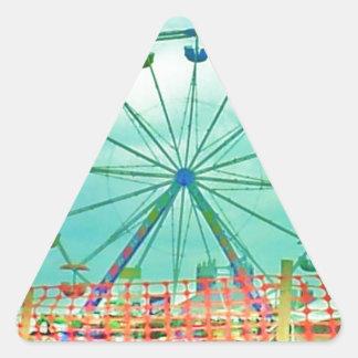Ferris Wheel Spring Fest Misquamicut Beach Triangle Sticker