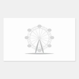 Ferris wheel rectangular sticker