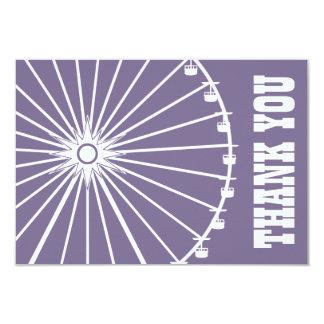 Ferris Wheel Thank You Card (Eggplant / White) Custom Invitations