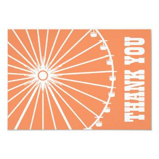 Ferris Wheel Thank You Card (Orange / White) Invite