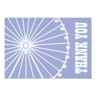 Ferris Wheel Thank You Card (Purple / White) Invites