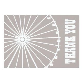 Ferris Wheel Thank You Card (Sand / White) Custom Announcements