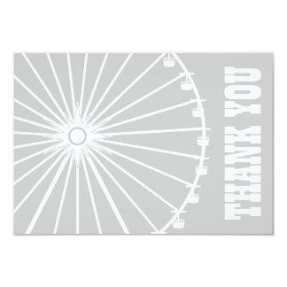 Ferris Wheel Thank You Card (Silver / White) Invites