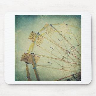 Ferris Wheel Vintage Print Mouse Pad