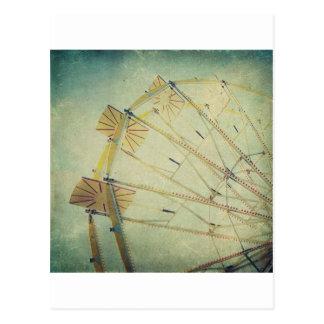 Ferris Wheel Vintage Print Postcard