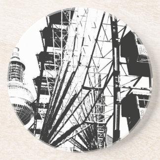Ferris Wheel with Berlin TV Tower, Alex Beverage Coasters