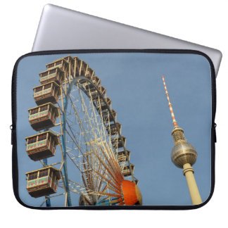 Ferris Wheel with Berlin TV Tower, Alex, Germany Computer Sleeve