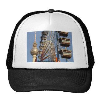 Ferris Wheel with Berlin TV Tower, Alex, Germany Trucker Hat