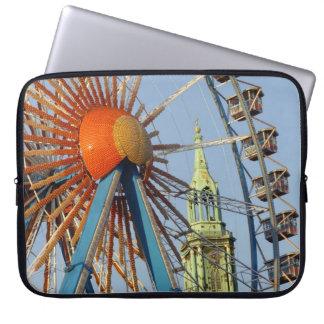 Ferris Wheel with Berlin TV Tower, Alex, Germany Laptop Sleeves