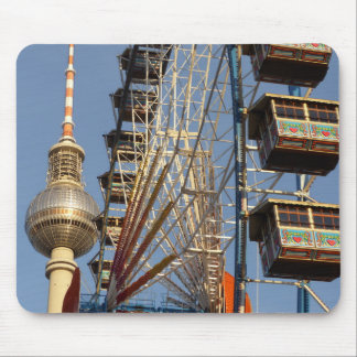 Ferris Wheel with Berlin TV Tower, Alex, Germany Mouse Pad