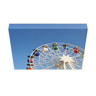 Ferris wheel with colorful baskets canvas print