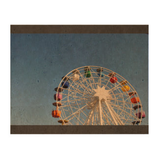 Ferris wheel with colorful baskets queork photo print