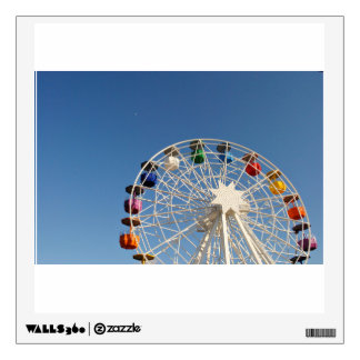 Ferris wheel with colorful baskets room stickers