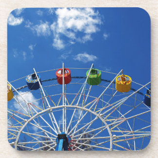 Ferris wheel without visitors drink coaster
