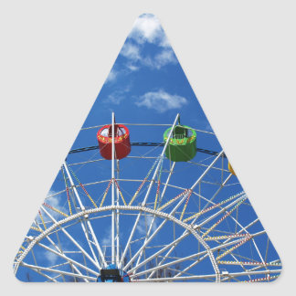 Ferris wheel without visitors triangle sticker