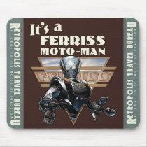 Ferriss Moto-Man Robot Mouse Pad