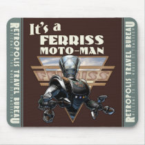Ferriss Moto-Man Robot Mouse Pad