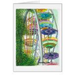 Ferriswheel en colores felicitación