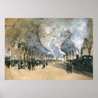 Ferrocarril 1895 de York Posters