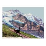 ferrocarril 1900 de la montaña del Ca Jungfrau Postales