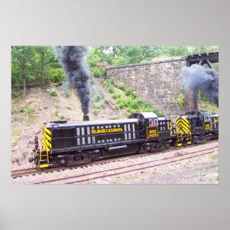 Ferrocarril Alco RS-3s de Delaware Lackawanna