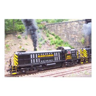 Ferrocarril Alco RS-3s Kodak de Delaware Lackawann Impresión Fotográfica