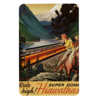 Ferrocarril americano del vintage, los E.E.U.U. - Imán Flexible
