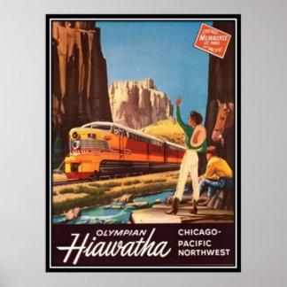 Ferrocarril americano del vintage, los E.E.U.U. - Poster