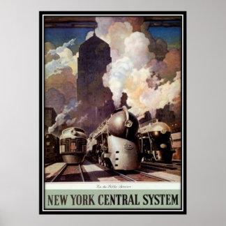 Ferrocarril americano del vintage, los E.E.U.U. - Posters