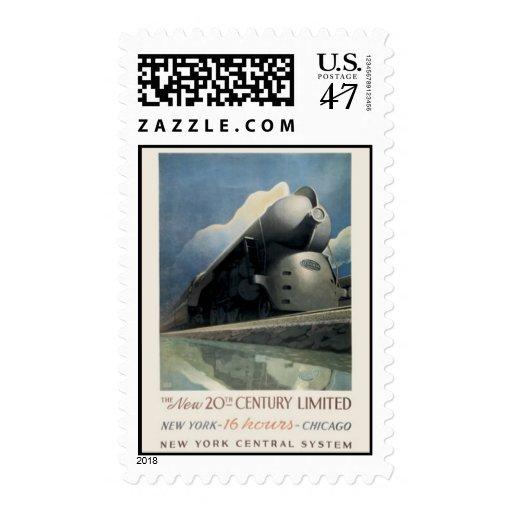 Ferrocarril americano del vintage, los E.E.U.U. - Sello Postal