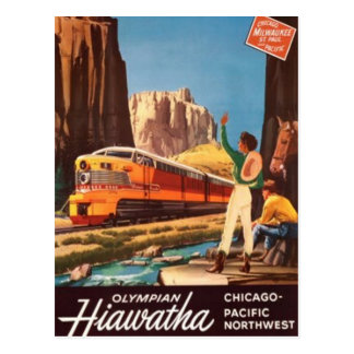 Ferrocarril americano del vintage, los E.E.U.U. - Postales