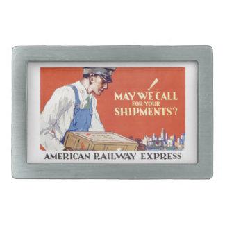 ¿Ferrocarril americano expreso, mayo llamamos? Hebilla Cinturon Rectangular