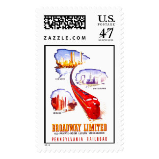 Ferrocarril Broadway Streamliner limitado de Sellos