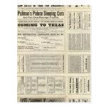 Ferrocarril central de Houston y de Tejas a través Tarjetas Postales