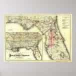 Ferrocarril central y peninsular de la Florida Poster