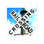 Ferrocarril Crossbuck Postales