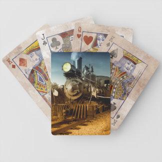 Ferrocarril de antaño barajas de cartas